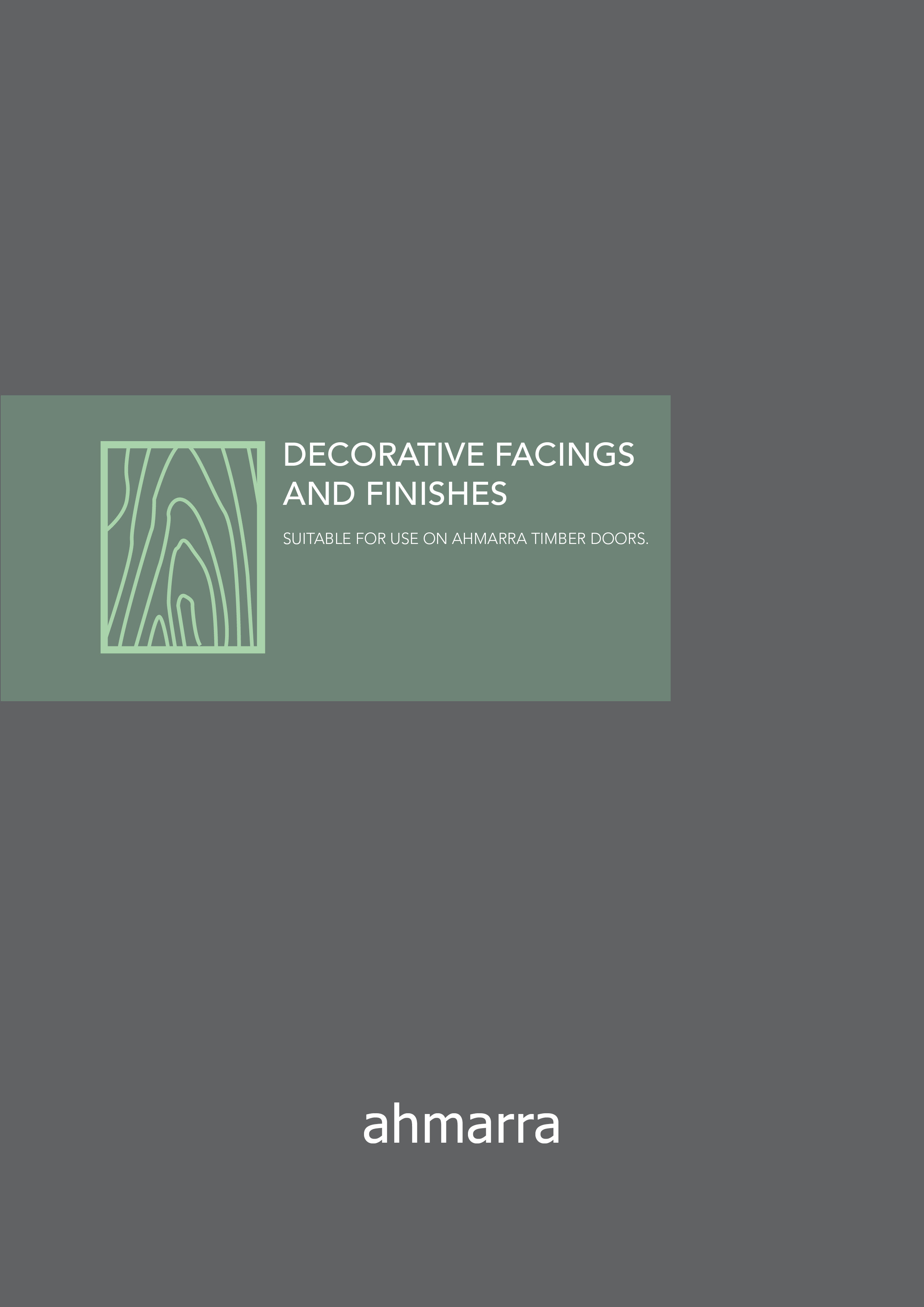Decorative Facings and Finishes Brochure | Ahmarra Door Solutions