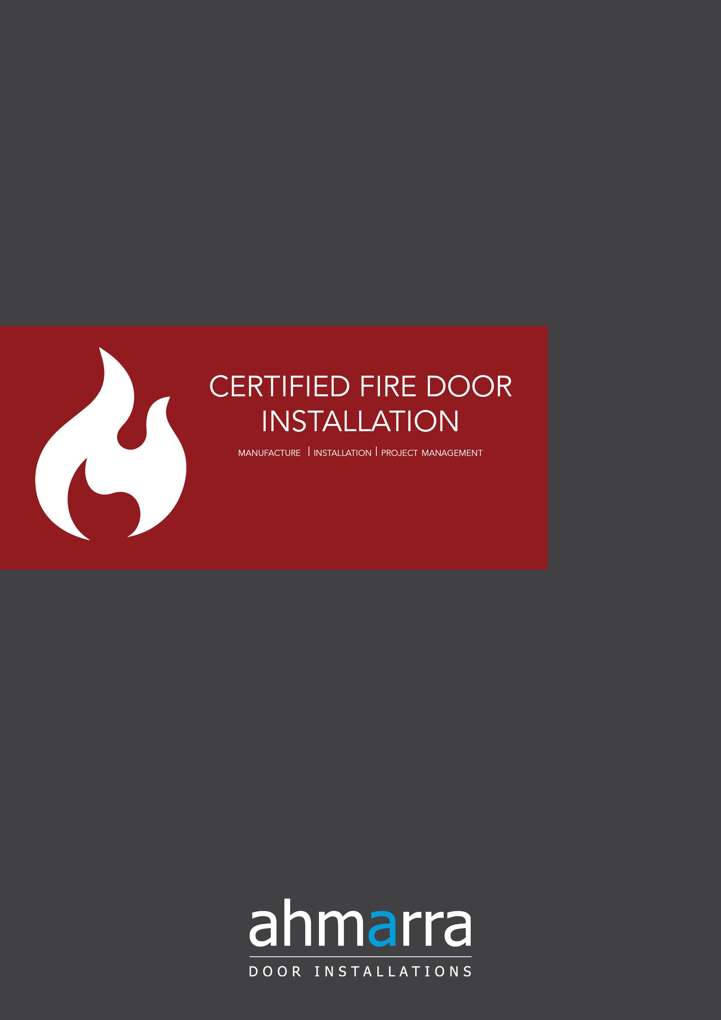 Certified Fire Door Installation Brochure   Ahmarra Door Installations
