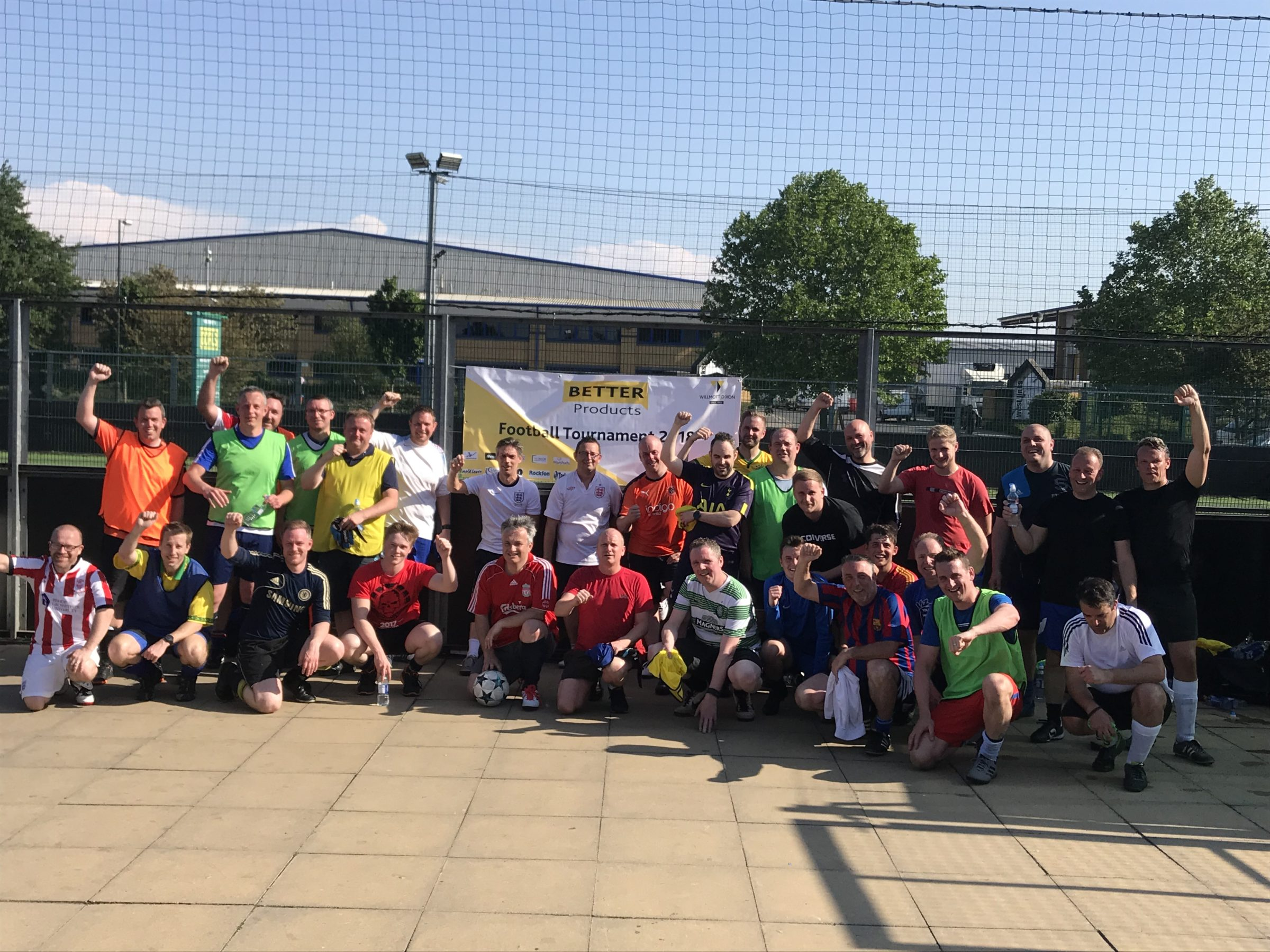 FUNdraising football with Willmott Dixon for Building Schools in Africa