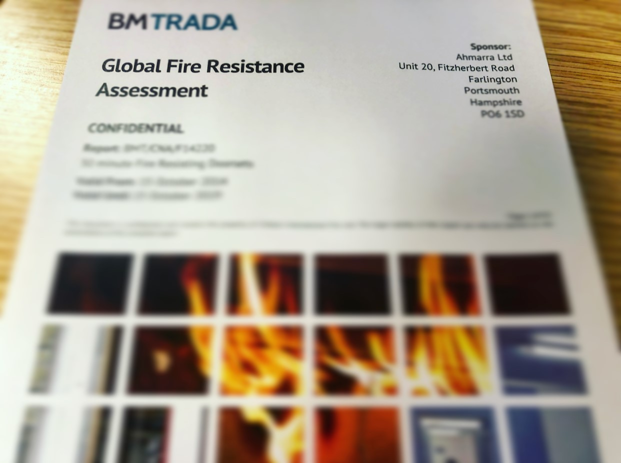 Global Assessments and Primary Evidence for Fire Doors