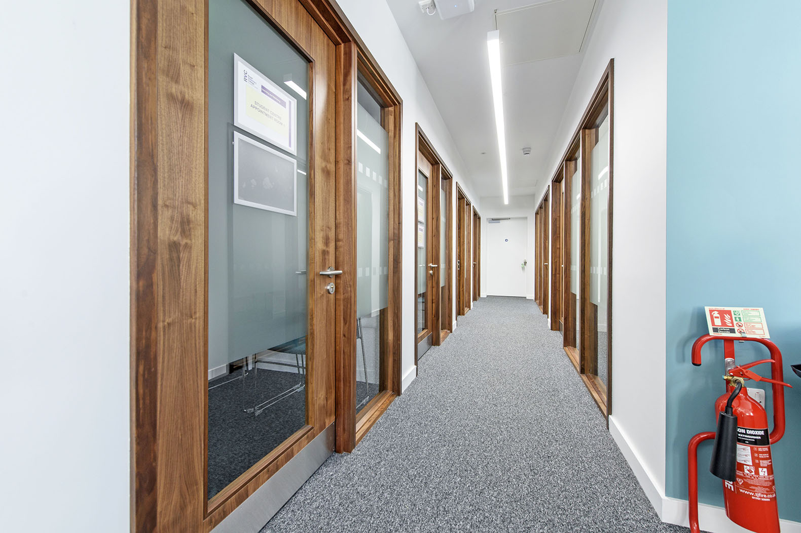 Fire doors and glazed screens supplied for the Royal Veterinary College